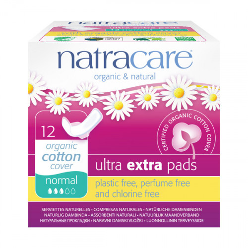 Natracare Binda Ultra extra normal vingar  12 st EKO