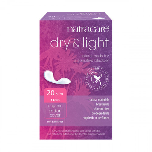 Natracare Inkontinensskydd dry+light Slim  20 st EKO