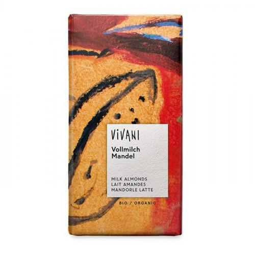 Vivani Choklad Ljus Mandel 100g EKO