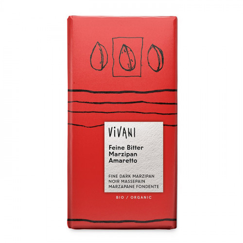 Vivani Mörk Choklad 70% Marsipan & Amaretto 100g EKO