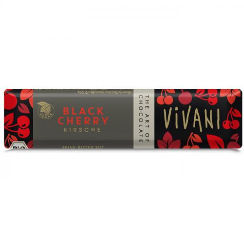 Vivani Choklad Mörk 62% Körsbär Liten 35g EKO