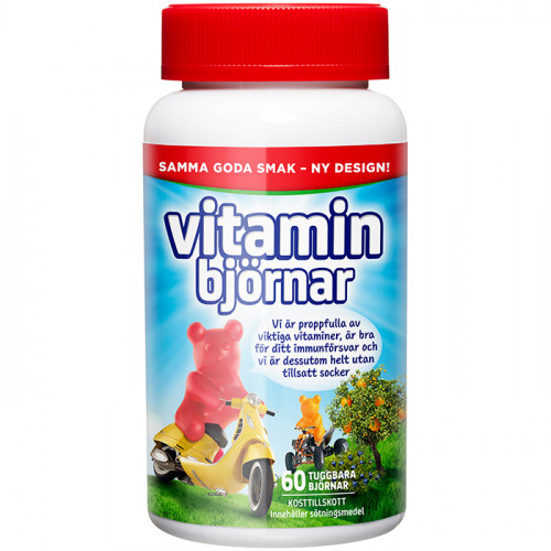 Active Care Active Care Vitaminbjörnar 60 tuggtabletter