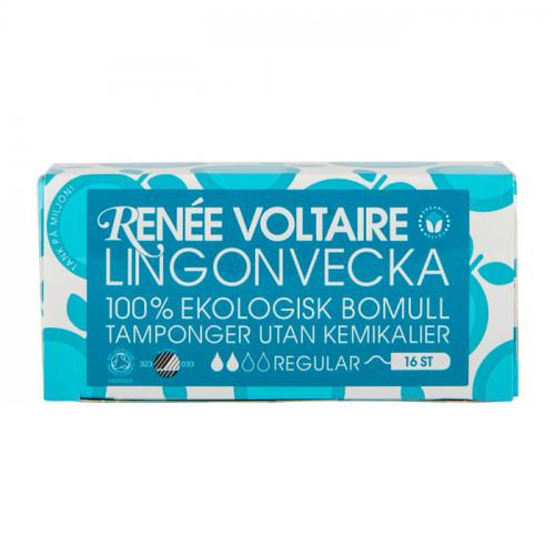 Renée Voltaire Lingonvecka Tampong Regular  16 st EKO