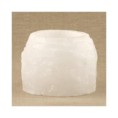 Selamix Saltsten Vit Naturformad för Värmeljus 400g