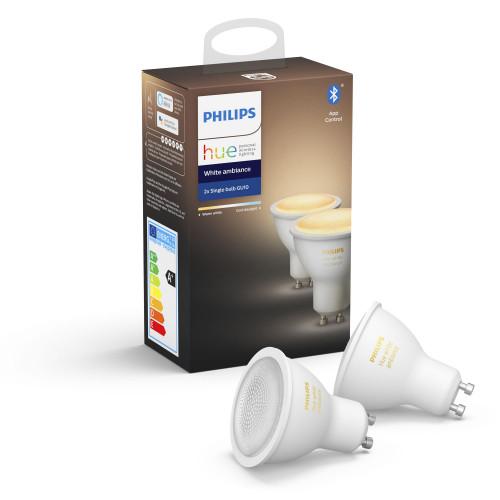 Philips Hue White Ambiance GU10 2-pack