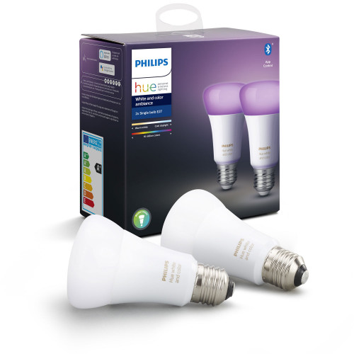Philips Hue White and Color E27 2-pack