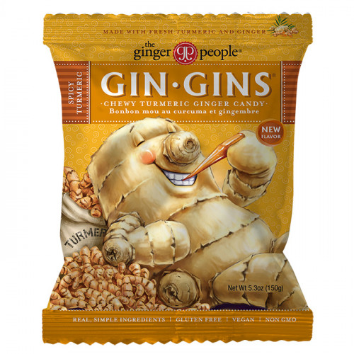 Ginger People Gin Gins Turmeric Chewy Ginger Candy 150g