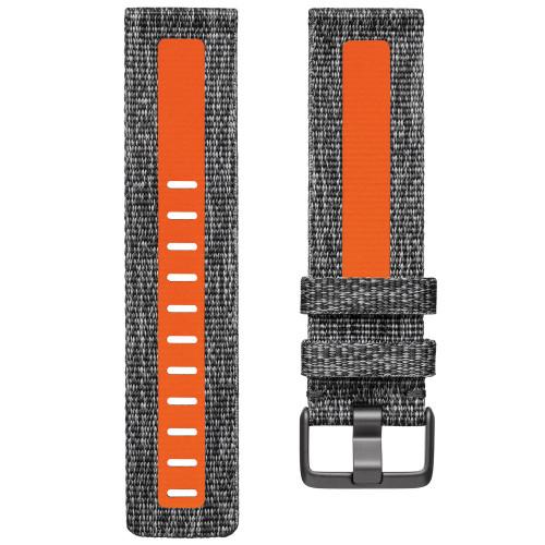 Fitbit Versa 2 Armband Char/Oran (L)