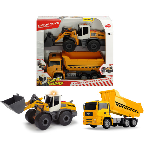 Dickie Construction Twin Pack