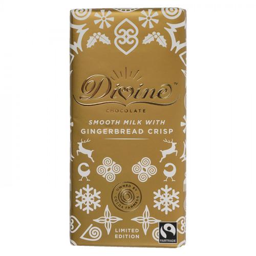 Divine Chocolate Divine Mjölkchoklad  Kanelkrisp & Kryddor 90g