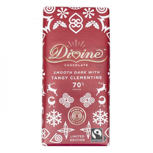 Divine Chocolate Divine Mörk Choklad 70% Syrlig Clementin 90g