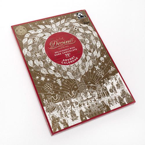 Divine Chocolate Divine Adventskalender Mörk Choklad 70% 85g