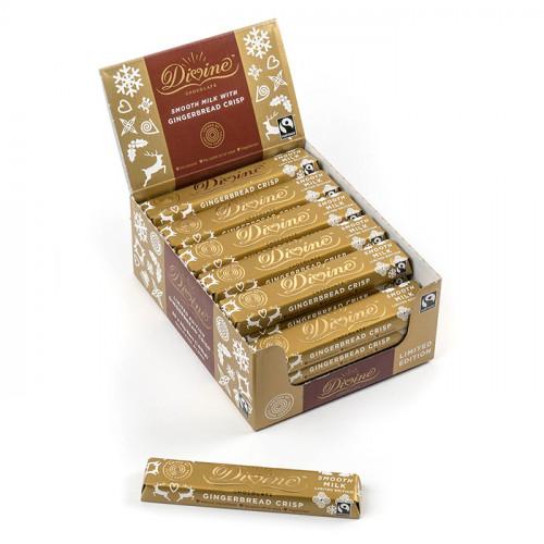 Divine Chocolate Divine Mjölkchoklad  Kanelkrisp & Kryddor 35g