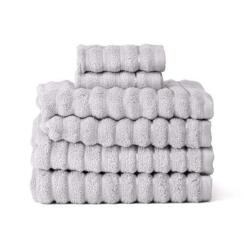 Home Exklusivt handduksset 6 delar silver