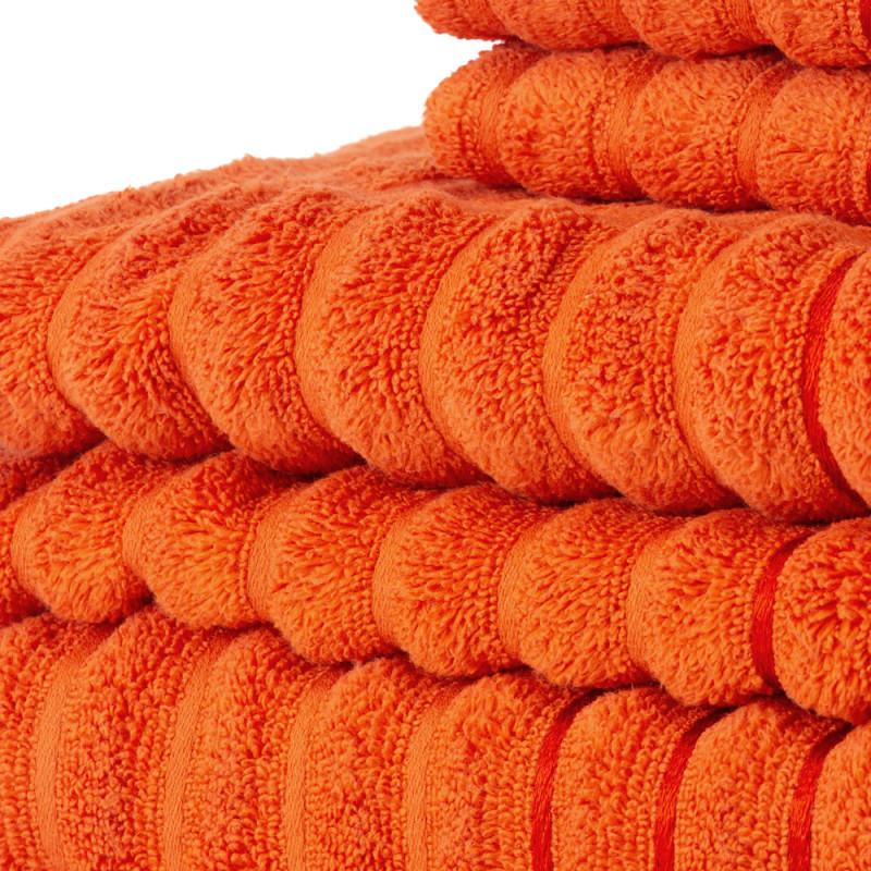 Home Exklusivt handduksset 6 delar Orange