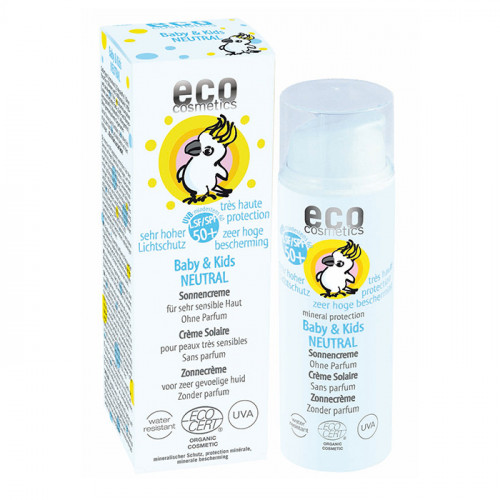 Eco Cosmetics Baby solkräm 50+ NEUTRAL  50 ml EKO