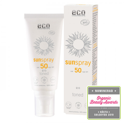 Eco Cosmetics Solspray Toned Q10 SPF 50  100 ml EKO