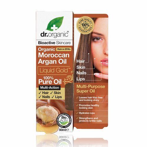 Dr Organic Moroccan Argan Oil Liquid Gold 100% Pure Oil 50ml