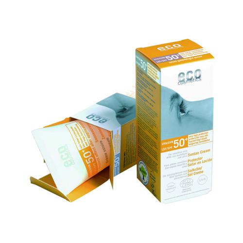 Eco Cosmetics Solkräm SPF50+ lätt tonad 75ml EKO