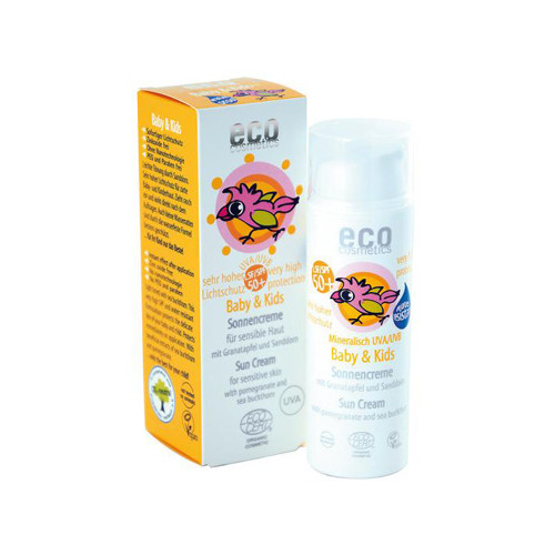 Eco Cosmetics Baby& Kids Solkräm 50+ 50ml EKO