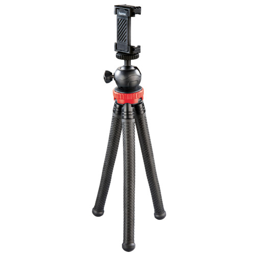 HAMA Bordsstativ Kamera, Smartphone & GoPro FlexPro 27 cm Röd