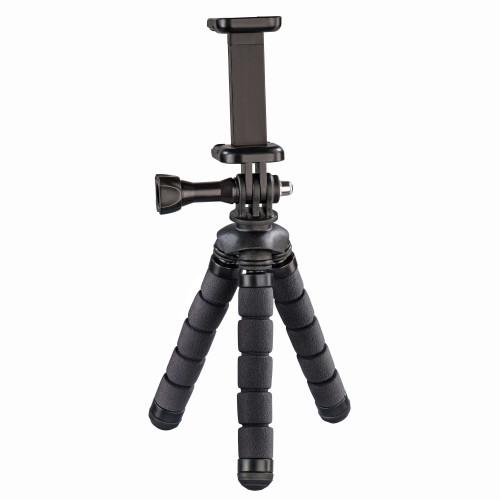HAMA Bordsstativ Flex Smartphone & GoPro 14cm Svart