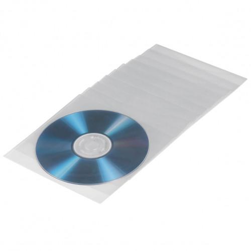 HAMA CD/DVD-ficka Transparent 50-pack