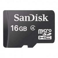 SANDISK MicroSD 16GB adapter Ingår Class 4
