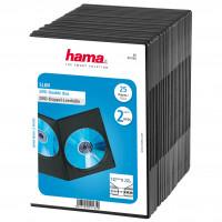 HAMA DVD-box Slim Dubbel  Svart 25-pack