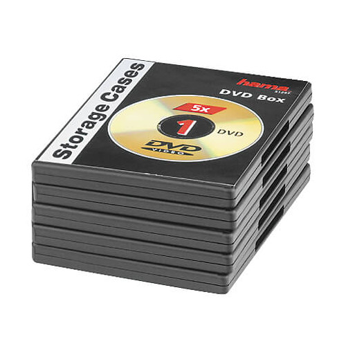 HAMA DVD-Box Svart 5-pack