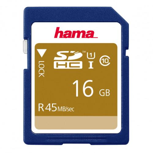 HAMA Minneskort SDHC 16GB 45MB/s Class 10