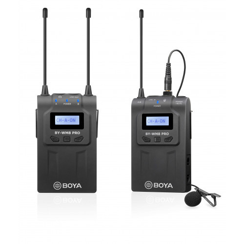 BOYA Mikrofon Lavalier Trådlös BY-WM8 Pro-K1 3.5mm & XLR