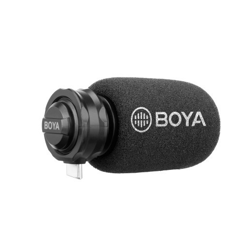 BOYA Mikrofon Kondensator Digital BY-DM100 Stereo USB-C Android