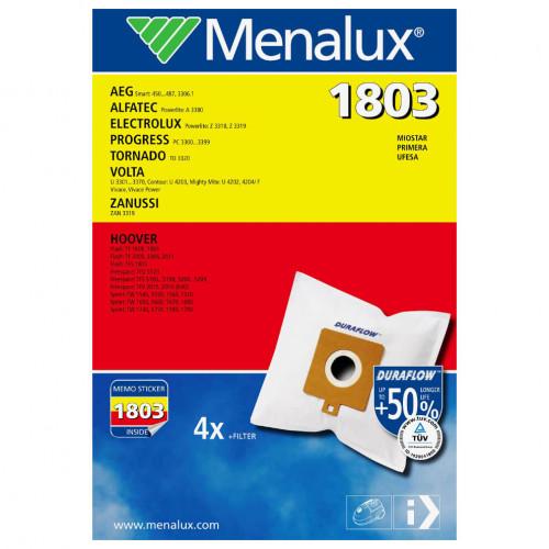 MENALUX Dammsugarpåsar 1803 Syntet 4-pack + filter