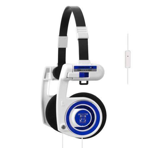 KOSS Hörlur iPortaPro 2.0 On-Ear Mic White Blueberry
