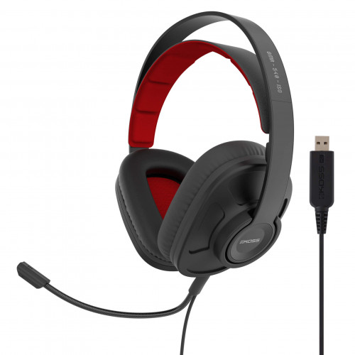 KOSS Headset GMR540 ISO USB Over-Ear Mic Remote Svart