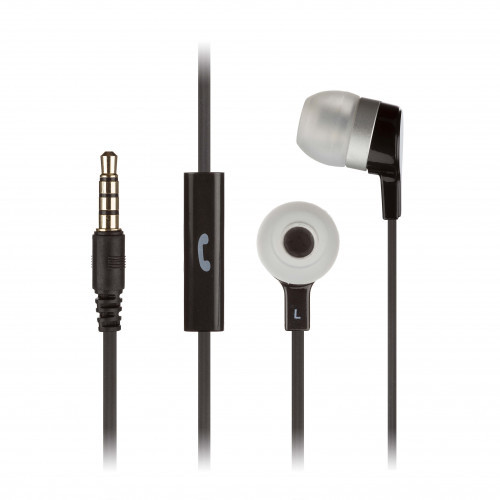 KITSOUND Hörlur Mini Svart In-Ear Mic