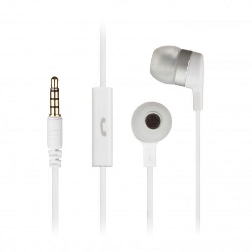 KITSOUND Hörlur Mini Vit In-Ear Mic