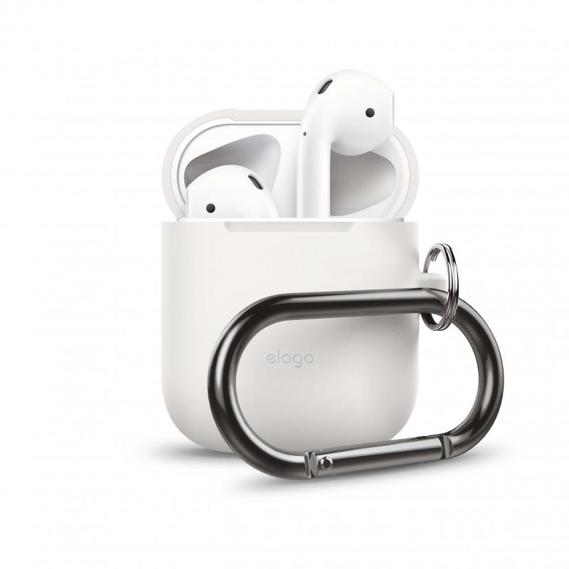 ELAGO Skyddsväska för Airpod med Hängare Vit