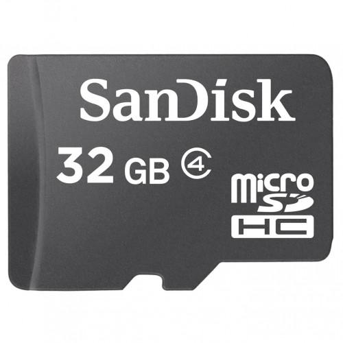 SANDISK Minneskort MicroSDHC 32GB Class4