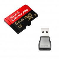 SANDISK Minneskort MicroSDXC 64GB Extreme Pro 275MB/s Läsare
