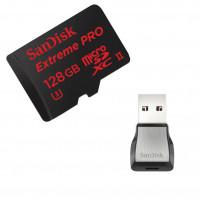 SANDISK Minneskort MicroSDXC 128GB Extreme Pro 275MB/s Läsare