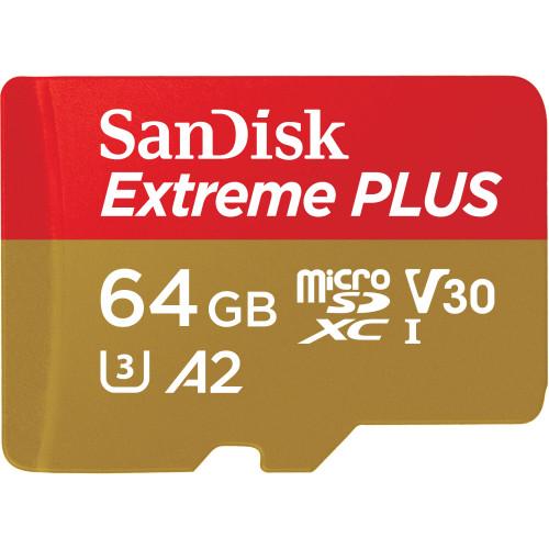SANDISK MicroSDXC Extreme Plus 64GB 170MB/s A2 C10 V30 UHS-I