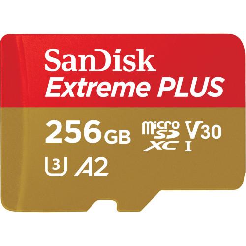 SANDISK MicroSDXC Extreme Plus 256GB 170MB/s A2 C10 V30 UHS-I