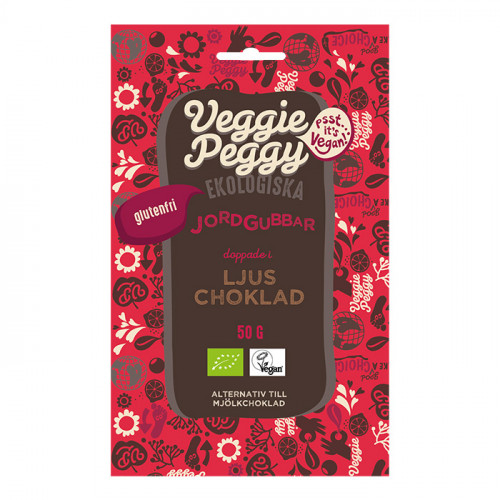Veggie Peggy Chokladdoppade Jordgubbar 50g EKO