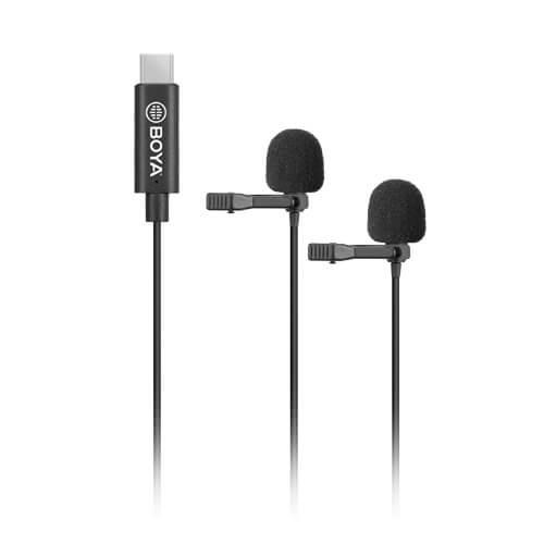 BOYA Mikrofon Lavalier x2 BY-M3D USB-C 6m