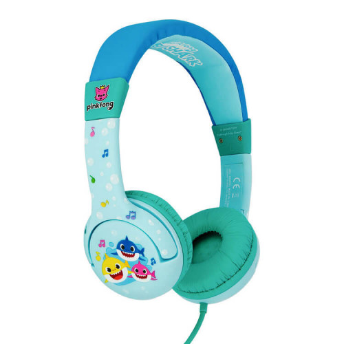 BABY SHARK Hörlur Junior On-Ear 85dB  Blå