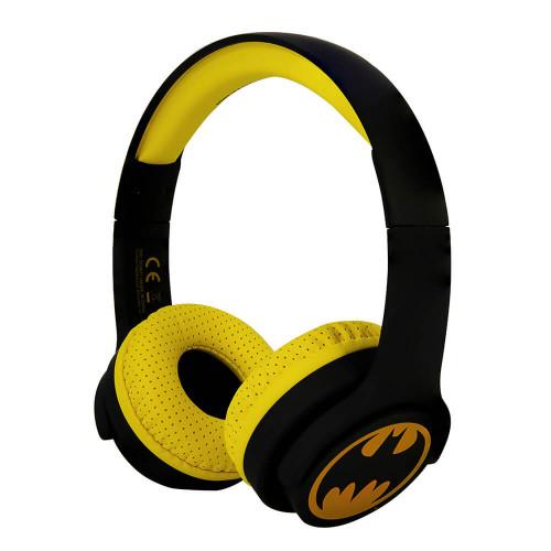 BATMAN Hörlur Junior Bluetooth On-Ear 85dB Trådlös Svart Logo