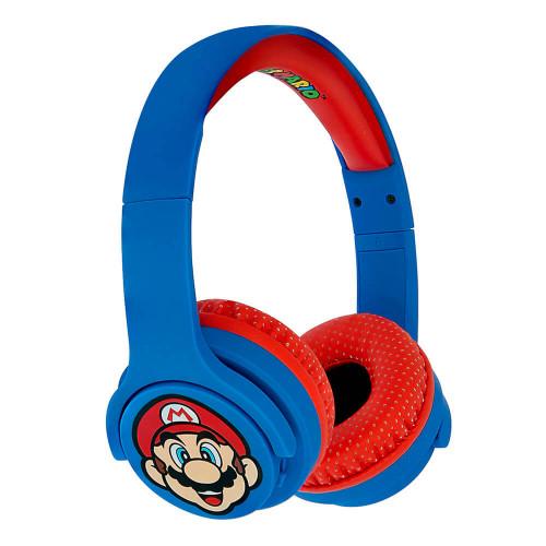 MARIO SUPER MARIO Hörlur Junior Bluetooth On-Ear 85dB Trådlös Blå Mario Icon