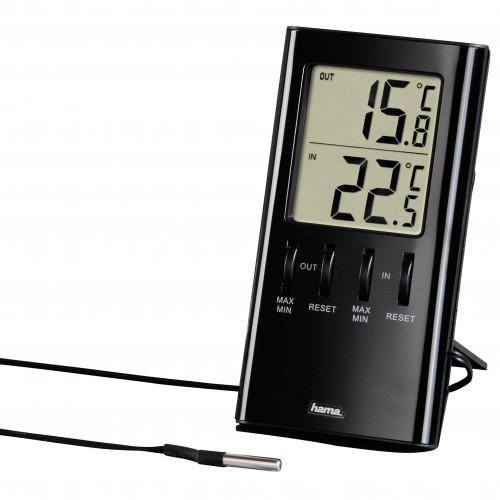 HAMA Digital Termometer Inomhus/Utomhus T-350 Svart